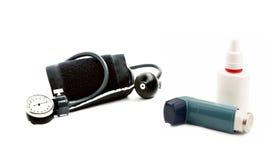 Aerosole und Inhalatorgerät für Druckmessung Lizenzfreie Stockfotografie