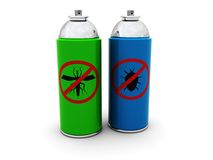 Aerosoles del insecticida Imagen de archivo libre de regalías