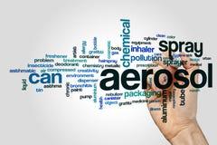Aerosolowa słowo chmura Zdjęcie Stock