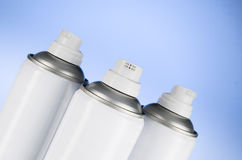 Aerosolspraydosen-Düsennahaufnahme Lufterfrischerprodukt-Studiophotographie Stockbilder