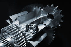 Aerospace gears and ball-bearings Royalty Free Stock Photography