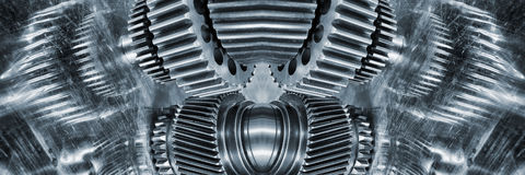 Aerospace gears and cogwheels of titanium Stock Photo