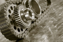 Aerospace gears and timing chain Stock Images