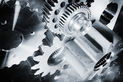 Aerospace titanium gears and parts Royalty Free Stock Images