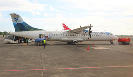 Free Aerospatiale/Alenia ATR 72 Air Austral. Royalty Free Stock Photo - 62208625