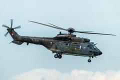 Aerospatiale Eurocopter ALS Superhubschrauber des Pumas 332 der Schweizer Luftwaffe während der Flugschau Stockbilder