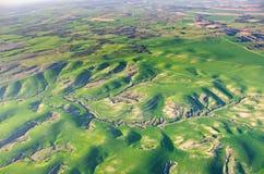 Aerostación sobre Israel - opinión del ojo de pájaro de Israel después del rai Imagen de archivo libre de regalías