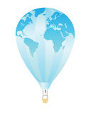 Aerostat-03. Picture balloon on white background. Vector Stock Photo