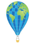 Aerostat-04. Image Concept for Travel: Globe and balloon Stock Images