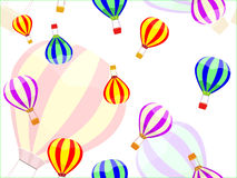 Aerostat and ballon seamless pattern. Vector illustration Stock Images