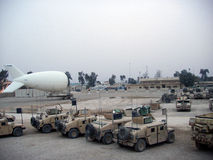 Aerostat on FOB Rustamiyah Iraq 07 Stock Photography