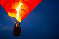 Aerostat at night Royalty Free Stock Images