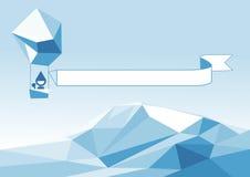 Aerostat ovanför isberget Royaltyfria Foton