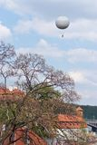 The sky over Prague. Czechia royalty free stock image
