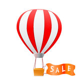 Aerostat with sale banner Stock Photos