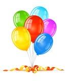 Aerostati colorati per la celebrazione di festa di compleanno royalty illustrazione gratis
