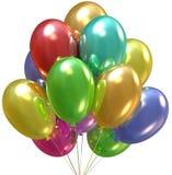 Aerostati. Decorazione del partito e di compleanno. illustrazione di stock
