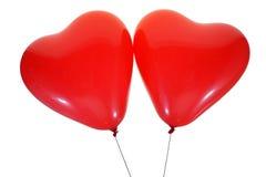 Aerostati del cuore fotografie stock libere da diritti
