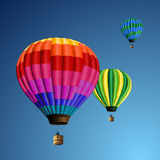 Aerostati del Rainbow Immagine Stock Libera da Diritti
