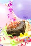 Aerostati della torta, nastri Fotografia Stock
