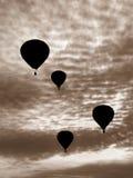 Aerostati di aria calda Fotografia Stock
