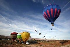 Aerostati di aria calda dell'Arizona Fotografia Stock
