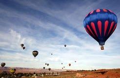 Aerostati di aria calda dell'Arizona Immagini Stock Libere da Diritti