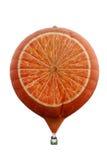Aerostati di aria calda a forma di arancioni Fotografie Stock Libere da Diritti