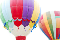 Aerostati di aria calda volanti fotografia stock libera da diritti