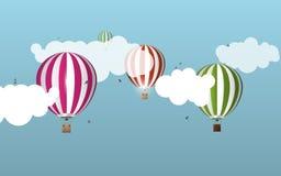Aerostati di aria nel cielo paesaggio Illustrazione di vettore illustrazione di stock