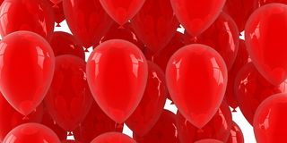 Aerostati di aria rossi Fotografia Stock Libera da Diritti