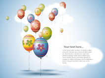 Aerostati di stile dell'uovo di Pasqua Fotografia Stock Libera da Diritti