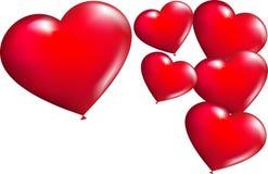 Aerostati Heart-shaped nel vettore Fotografie Stock Libere da Diritti