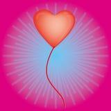 Aerostati Heart-shaped per il giorno del biglietto di S. Valentino Illustrazione Vettoriale
