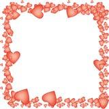 Aerostati Heart-shaped per il giorno del biglietto di S. Valentino Royalty Illustrazione gratis