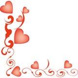 Aerostati Heart-shaped per il giorno del biglietto di S. Valentino Illustrazione di Stock