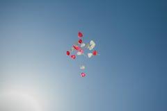 Aerostati nel cielo Fotografia Stock