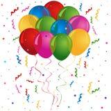 Aerostati per il compleanno o il partito Fotografie Stock Libere da Diritti