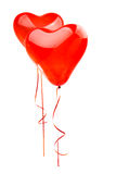 Aerostati rossi del cuore Fotografia Stock Libera da Diritti
