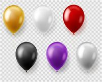 Aerostati variopinti impostati Carnevale rotondo di nozze della festa di compleanno di celebrazione del regalo dei giocattoli di  illustrazione di stock