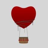 Aerostatic Balloon Heart Love.  Royalty Free Stock Image