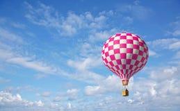aerostato 3d nel cielo blu Immagini Stock