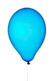 Aerostato blu Fotografia Stock