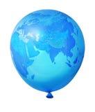 Aerostato blu della terra del pianeta Fotografia Stock