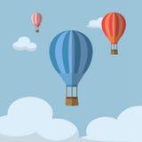 Aerostato in cielo Fotografie Stock Libere da Diritti