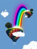 Aerostato con il Rainbow Illustrazione Vettoriale