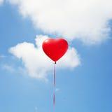 Aerostato del cuore Immagine Stock Libera da Diritti
