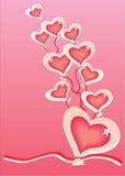 Aerostato del cuore Fotografie Stock