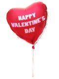 Aerostato del cuore di giorno dei biglietti di S. Valentino Fotografia Stock Libera da Diritti