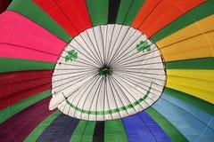 Aerostato di aria calda felice del fronte Fotografia Stock Libera da Diritti
